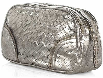 Bottega Veneta Perforated Leather Cosmetic Case