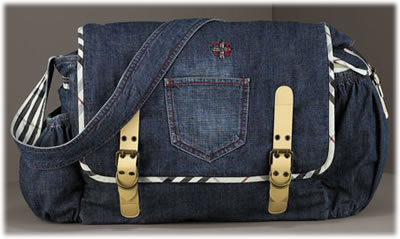 Burberry Denim Messenger Diaper Bag