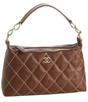 Chanel chestnut quilted leather small shoulder bag