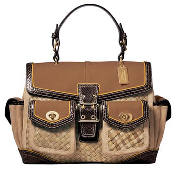Coach Daphne Straw Top Handle Bag