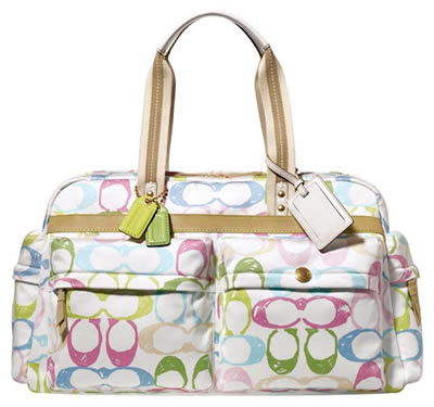 Coach Hamptons Weekend Scribble Travel Satchel