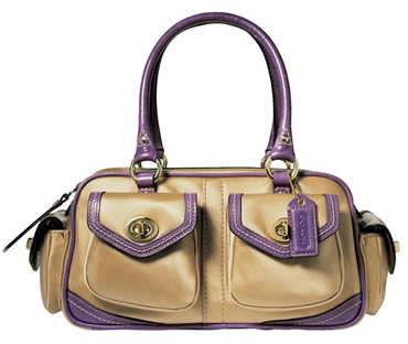 Coach Nylon Small Pocket Satchel