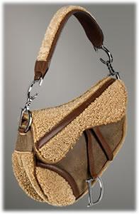 Dior Flight Shearling Saddle Bag