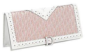 Dior Jacquard Flap Clutch