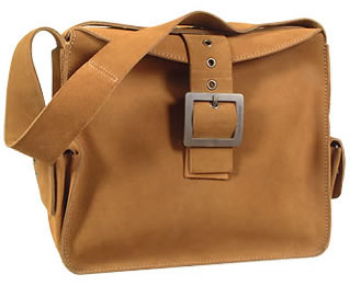 Dolce and Gabbana Camel Suede Buckle Tote Bag