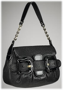 Fendi B Fendi Patent Trim Shoulder Bag