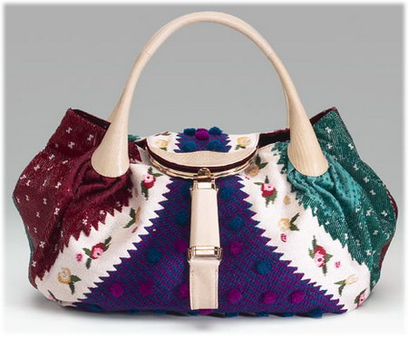 Fendi Embroidered Spy Bag
