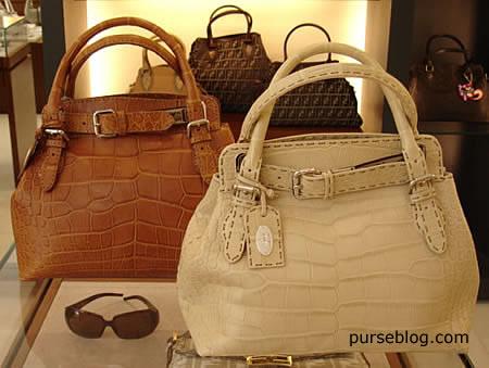 Fendi Villa Borghese Alligator handbag