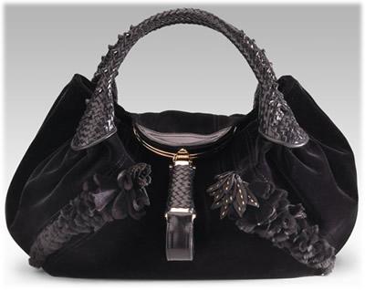 Fendi Wisteria Velvet Spy Bag