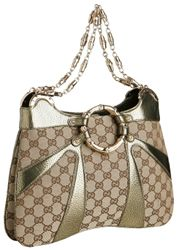 Gucci Logo Weave Shoulder Bag