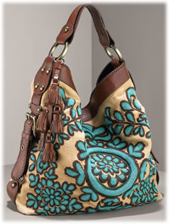 Isabella Fiore Large Embroidered Hobo