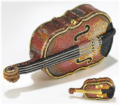 Judith Leiber Violin Minaudiere