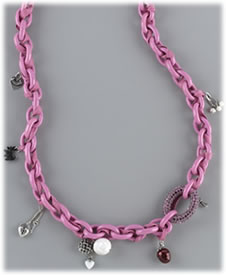 Juicy Couture Pave and Resin Link Necklace