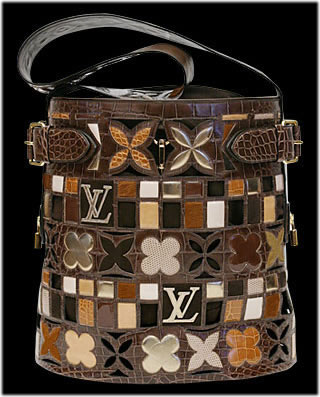 Louis Vuitton Leather patchwork bag
