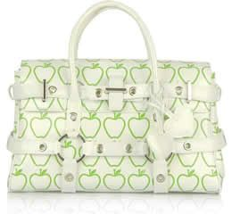 Luella Patent Leather Apple Print Gisele Bag