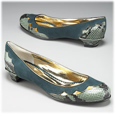 Marc by Marc Jacobs Suede Flat with Python Print Leather
