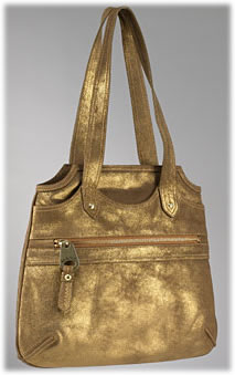 Marc by Marc Jacobs Soft Metallic Leather Fran Bag