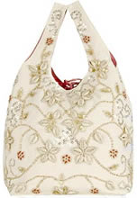 Marine Shell Embroidered Canvas Tote