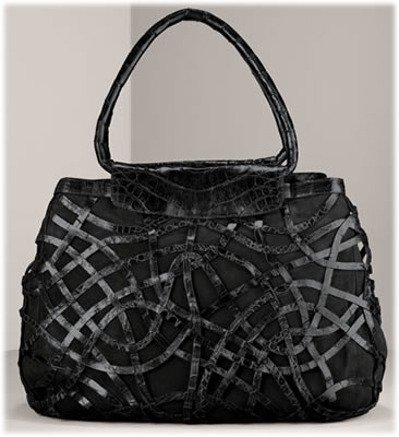 Nancy Gonzalez Latticework Crocodile Tote