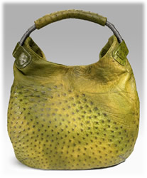 Nuti Ostrich Hobo Handbag