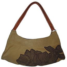 Poppy Suede Shoulder Bag in Camel