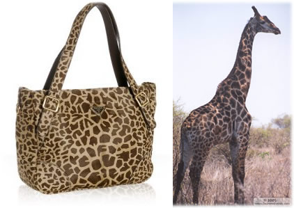Prada Giraffe Pony Hair Medium Tote