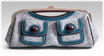 Rafe Donegal Tweed Frame Clutch