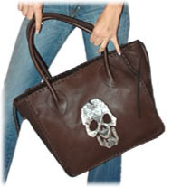 Shelly Litvak Small Whip Stitched Brown Tote