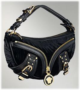 Versace Velvet Biker Bag