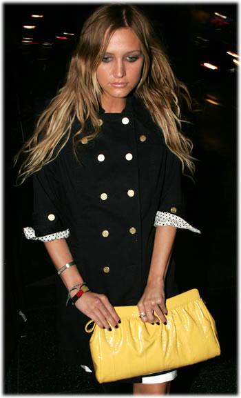 Ashlee Simpson Handbag Style