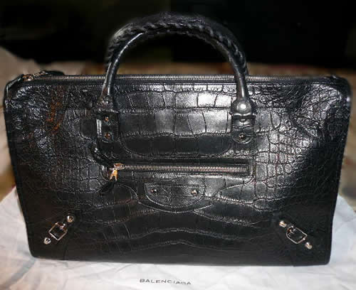 Balenciaga Crocodile Work Bag