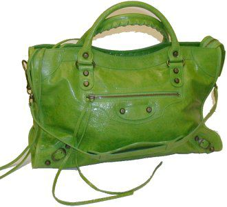 Balenciaga City Motorcycle Bag Verde Green