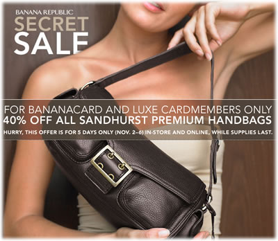 Banana Republic Secret Sale
