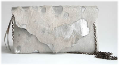 Belen Echandia Cowhide Metallic Purse