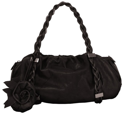 Botkier Black Rose Satchel