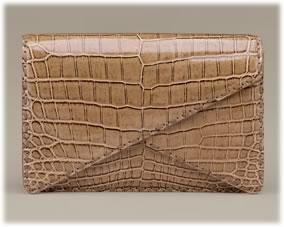 Bottega Veneta Crocodile Envelope Clutch