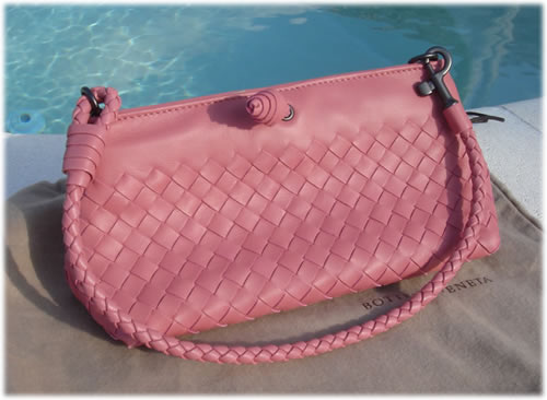 Bottega Veneta Pink Quarzo Clutch