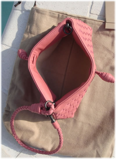 Bottega Veneta Pink Quarzo Clutch1