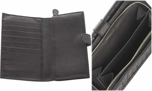 Bottega Veneta Woven Leather Wallet1