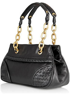 Bottega Veneta Chain Strap Leather Handbag