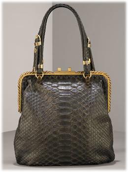 Bottega Veneta Python Frame Bag