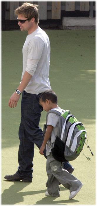 Brad Pitt Maddox backpack