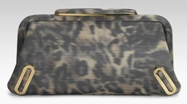 brian atwood printed clutch
