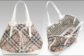 Burberry Check Net Drawstring Bag