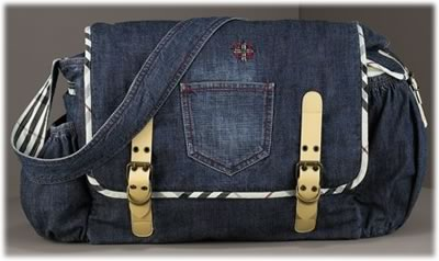 Burberry Denim Diaper Bag