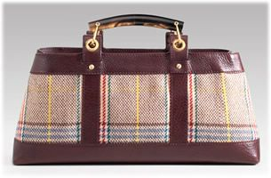 Burberry Plaid Wool Bag