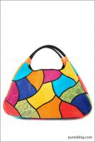 Carlos Falchi East/West Tote with Patchwork in Multi Bright - $3,490