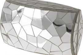 Celestina Cracked Mirror Clutch