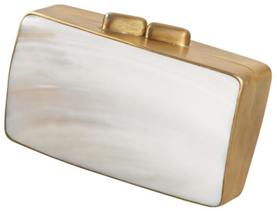 Celestina Mother of Pearl Clutch