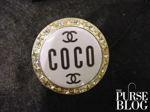 Chanel COCO MANIA brooch in white